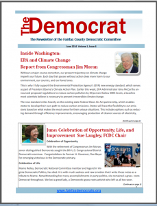 June 2014 Issue of The Democrat Cover