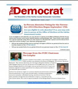 September 2014 Democrat Cover