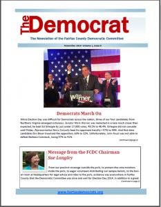 November The Democrat Cover
