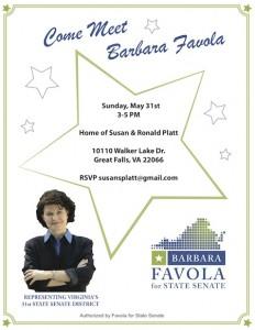 Afternoon Coffee with Senator Barbara Favola @ Home of Susan and Ronald Platt | Great Falls | Virginia | United States