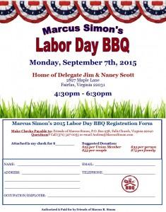 Marcus Simon's Labor Day BBQ @ Home of Delegate Jim & Nancy Scott