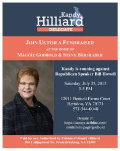 Fundraiser for Kandy Hilliard @ Maggie Godbold's House   Herndon   Virginia   United States