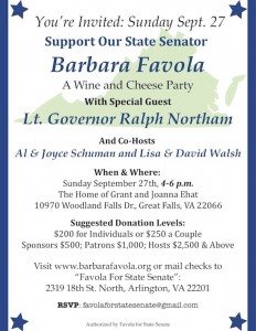 Wine & Cheese Party with Barbara Favola @ The Home of Grant & Joanna Ehat