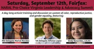 NARAL Pro-Choice Virginia Leadership and Advocacy Summit @ George Mason University Fairfax Campus