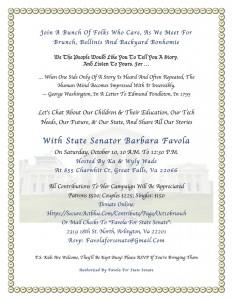 Brunch with Senator Barbara Favola @ Home of Ka & Wyly Wade | Great Falls | Virginia | United States