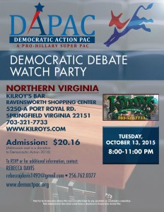 Democratic Action PAC and Janet Oleszek's Democratic Debate Watch Party @ Kilroy's Bar | Springfield | Virginia | United States
