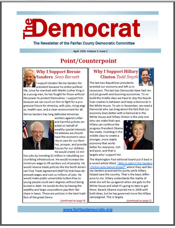 April 2016 Democrat Cover