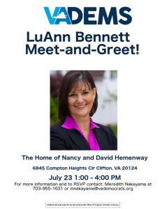 LuAnn Bennett Meet-and-Greet @ Home of Nancy and David Hemenway   Clifton   Virginia   United States