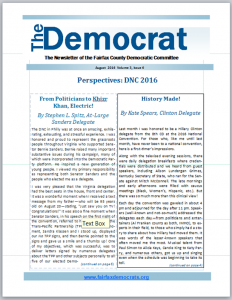 August 2016 Democrat Cover Page