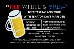 Politics & Pints Beer Tasting @ Premium Distributors | Chantilly | Virginia | United States