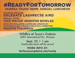 Fairfax Young Democrats Ready for Tomorrow Annual Luncheon @ Wildfire- Tysons | McLean | Virginia | United States
