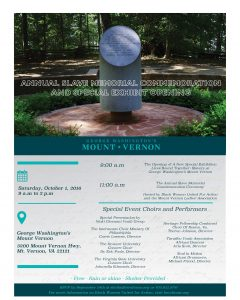 Annual Slave Memorial Commemoration and Special Exhibit Opening @ George Washington's Mount Vernon | Mount Vernon | Virginia | United States