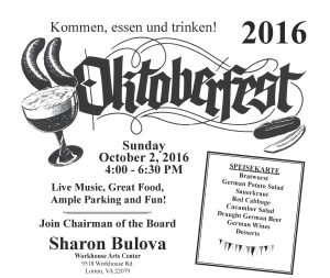 Chairman Sharon Bulova's Annual Oktoberfest! @ Workhouse Arts Center | Lorton | Virginia | United States