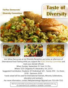 DIVERSITY COMMITTEE - TASTE OF DIVERSITY @ Private Venue | Alexandria | Virginia | United States