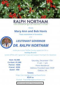 Holiday Brunch with Ralph Northam @ Home of Bob and Mary Ann Hovis | Oakton | Virginia | United States