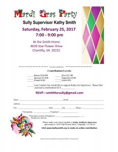 Supervisor Kathy Smith's Mardi Gras @ Smith Residence | Chantilly | Virginia | United States