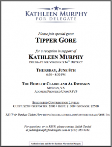 Kathleen Murphy Fundraiser with Tipper Gore @ The Home of Claire and Al Dwoskin