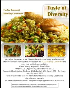 DIVERSITY COMMITTEE - TASTE OF DIVERSITY @ Private Residence | Alexandria | Virginia | United States