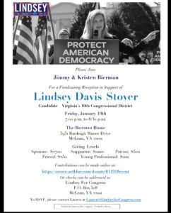 Fundraiser for Lindsey Davis Stover for VA-10 @ The Bierman Home | McLean | Virginia | United States