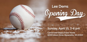Lee Dems Opening Day BBQ @ Carson and Dagny Evans Home | Alexandria | Virginia | United States