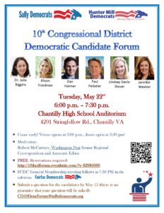 10th CD Candidate Forum @ Chantilly HS Auditorium | Chantilly | Virginia | United States