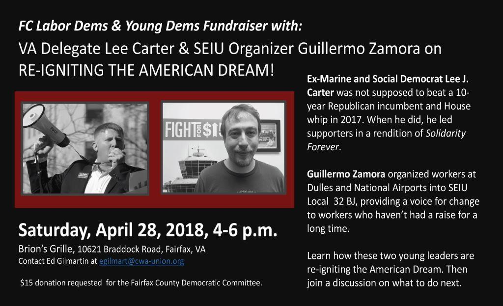 """FCDC Labor Committee and Young Democrats Fundraiser: """"Labor and Millennials"""" @ Brion's Grille 