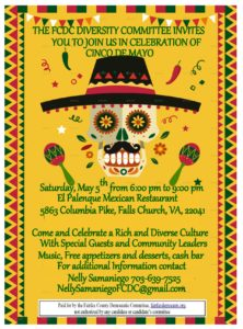 CINCO DE MAYO - DIVERSITY COMMITTEE @ El Palenque Mexican Restaurant | Falls Church | Virginia | United States
