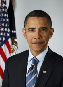 Official photo of Barak Obama