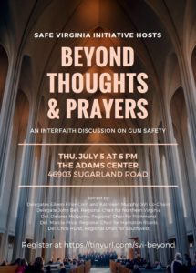 Beyond Thoughts and Prayers @ The Adams Center | Sterling | Virginia | United States