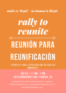 Rally to Reunite @ ICE Headquarters | Fairfax | Virginia | United States