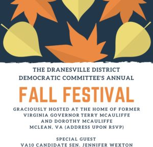 RAIN DATE: Dranesville District Fall Festival @ Home of Terry and Dorothy McAuliffe | McLean | Virginia | United States