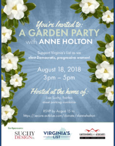 Virginia's List with Anne Holton @ Home of Lisa Suchy, Fairfax