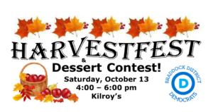 Braddock Dems HarvestFest & Dessert Contest @ Kilroy's Restaurant | Springfield | Virginia | United States