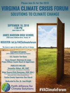 Virginia Climate Crisis Forum @ James Madison High School | Vienna | Virginia | United States
