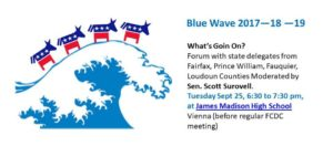 Blue Wave Forum with State Delegates @ James Madison High School Cafeteria | Vienna | Virginia | United States