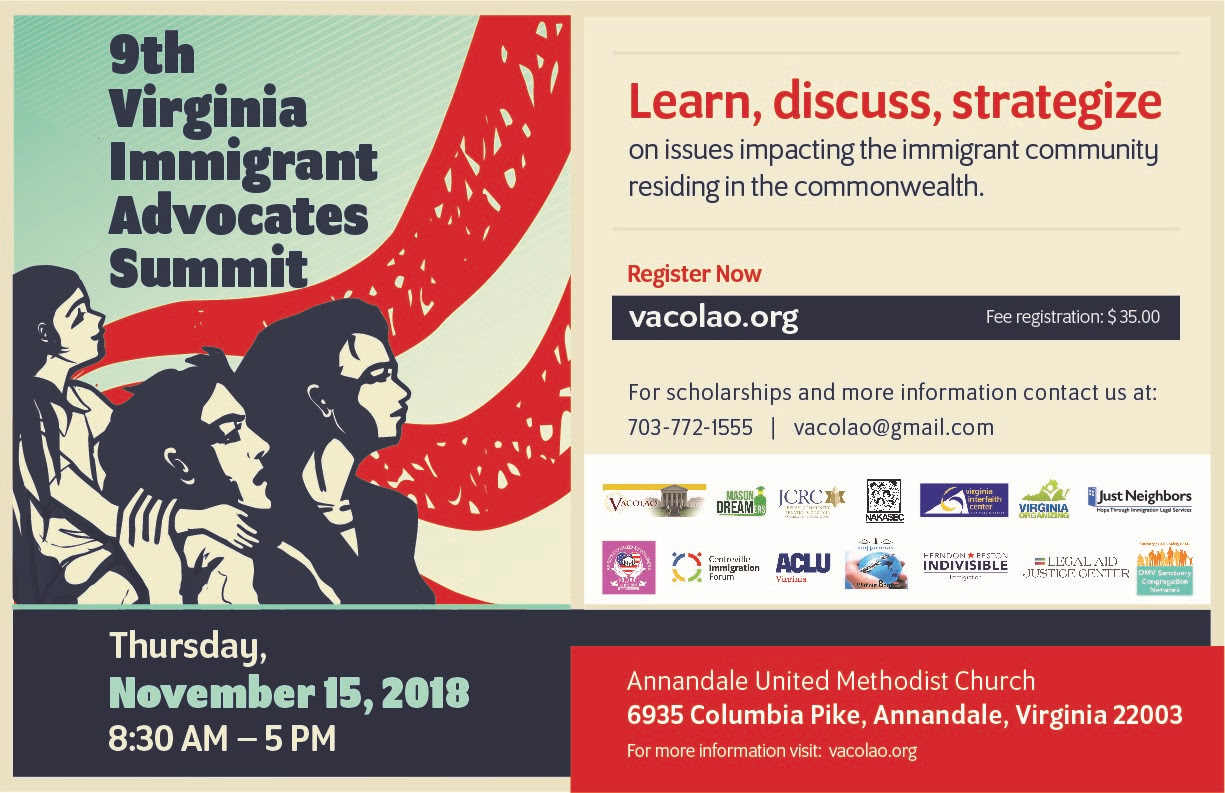 9th Immigrant Advocates Summit @ Annandale United Methodist Church | Annandale | Virginia | United States
