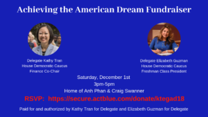 Achieving the American Dream Fundraiser @ At the home of Anh Phan & Craig Swanner | Alexandria | Virginia | United States