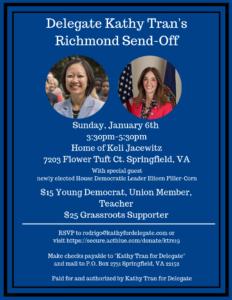 Delegate Kathy Tran's Richmond Send-Off @ Home of Keli Jacewitz