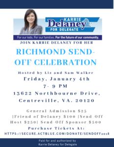 Karrie Delaney's Richmond Send-Off Celebration @ Home of Liz and Sam Walker