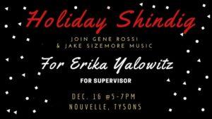 Holiday Shindig for Erika Yalowitz for Supervisor @ Nouvelle