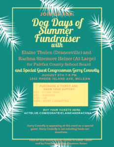 Dog Days of Summer Fundraiser with Elaine Tholen and Rachna Sizemore Heizer @ Nadja Golding's home