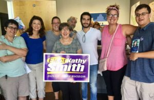 Joint Canvass w/ Karrie, Kathy and Stella for School Board @ Karrie Delaney's Office