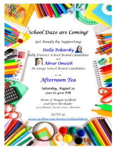 School Daze are Coming - Get ready with Stella and Abrar @ Home of Maggie Godbold and Steve Bershader