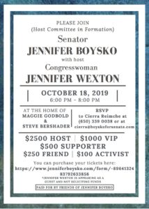 Fundraiser in Support of Senator Boysko with Congresswoman Wexton! @ Home of Maggie Godbold & Steve Bershader