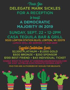 Mark Sickles Reception for a Democratic Majority in 2019 @ Casa Tequila Bar & Grill