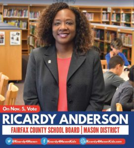 Meet & Greet with Ricardy Anderson for School Board (Mason District) @ Home of George & Terri Lamb