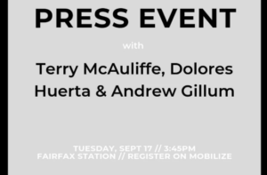 Join Andrew Gillum, Terry McAuliffe and Dolores Huerta