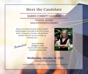 Fundraiser for Karen Corbett Sanders hosted by Kristen Amundson @ Home of Karen & Ted Stone