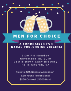 Men 4 Choice - NARAL Pro-Choice Virginia Happy Hour @ Settle Down Easy Brewing Co.