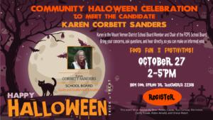 Karen Corbett Sanders Community Halloween Celebration and Fundraiser @ Home of Sheri Robey-Lapan